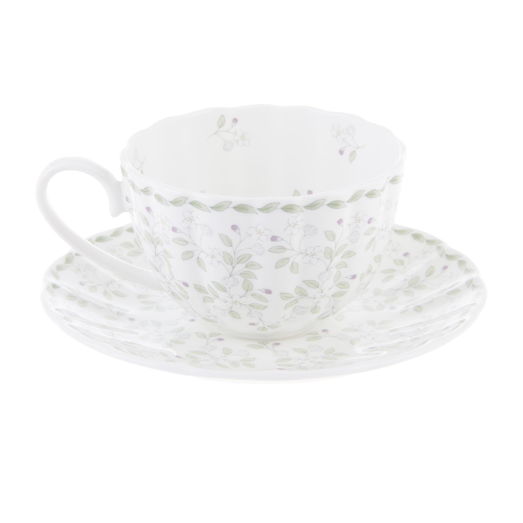 Чашка чайная 300 мл с блюдцем джулия грин Hatori