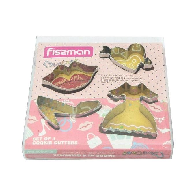 Набор формочек Fissman для вырезания печенья 4 шт