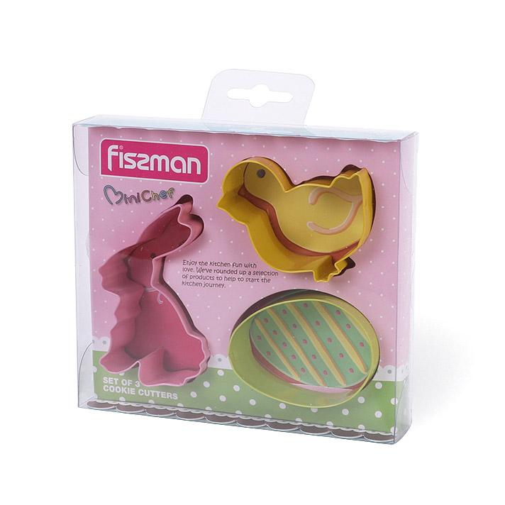 Набор формочек Fissman для вырезания печенья 3 шт