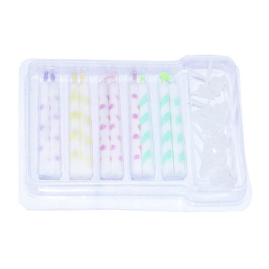 Набор свечей Fissman для торта с подставками 10 шт 5x50 мм набор свечей serenity jade gold 3 шт