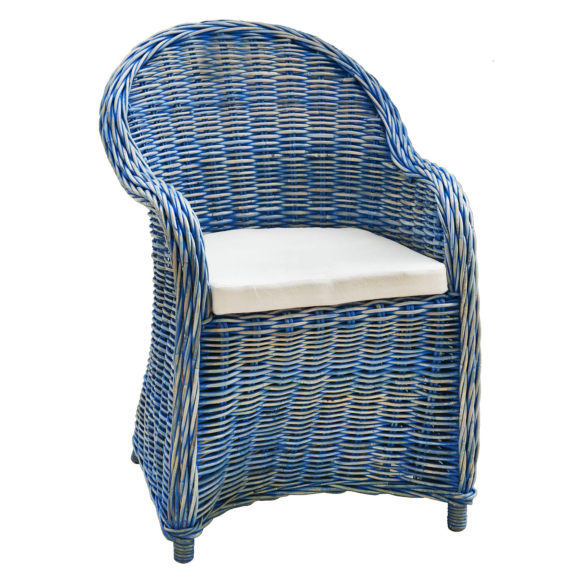 Кресло Bizzotto Martin Blue с подушкой 60х67х89 см фото