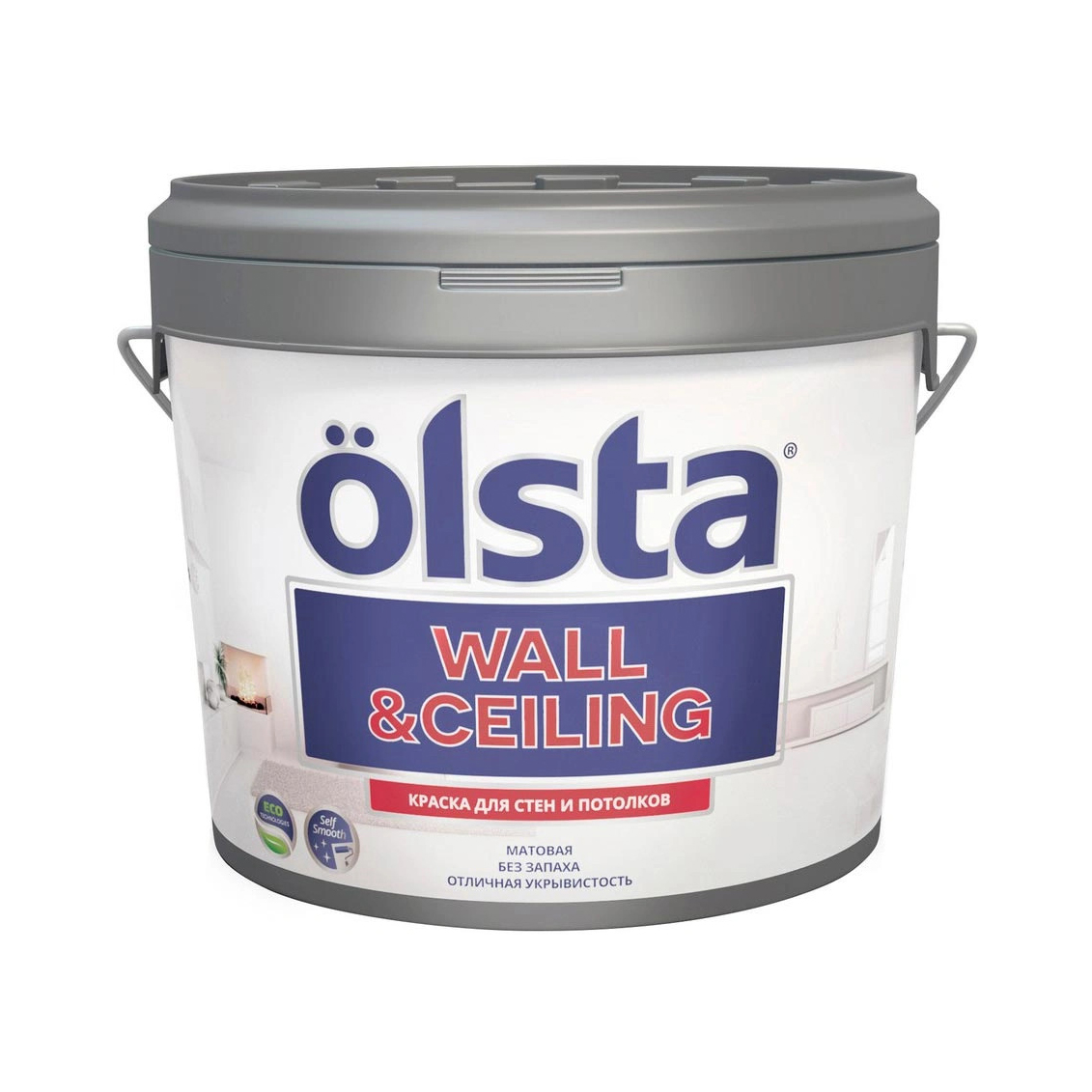 Краска Olsta Wall&Ceiling База С 9 л