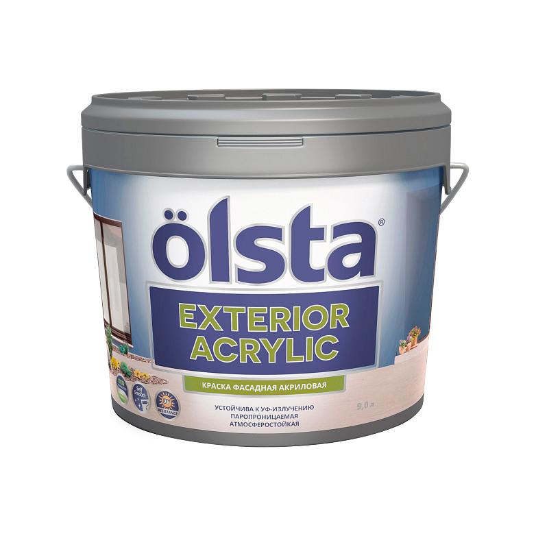 Краска Olsta Exterior Acrylic фасадная База А 2,7 л