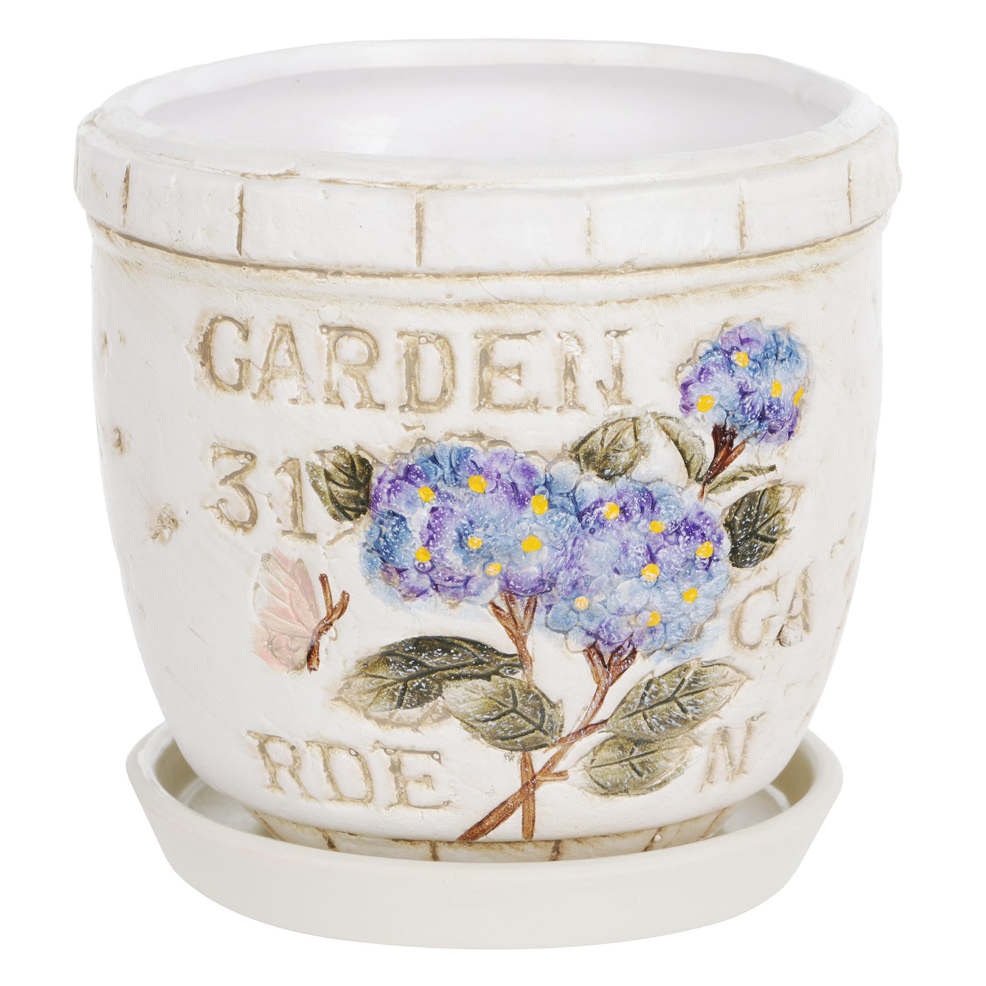 Горшок цветочный Dehua ceramic garden с поддоном d15