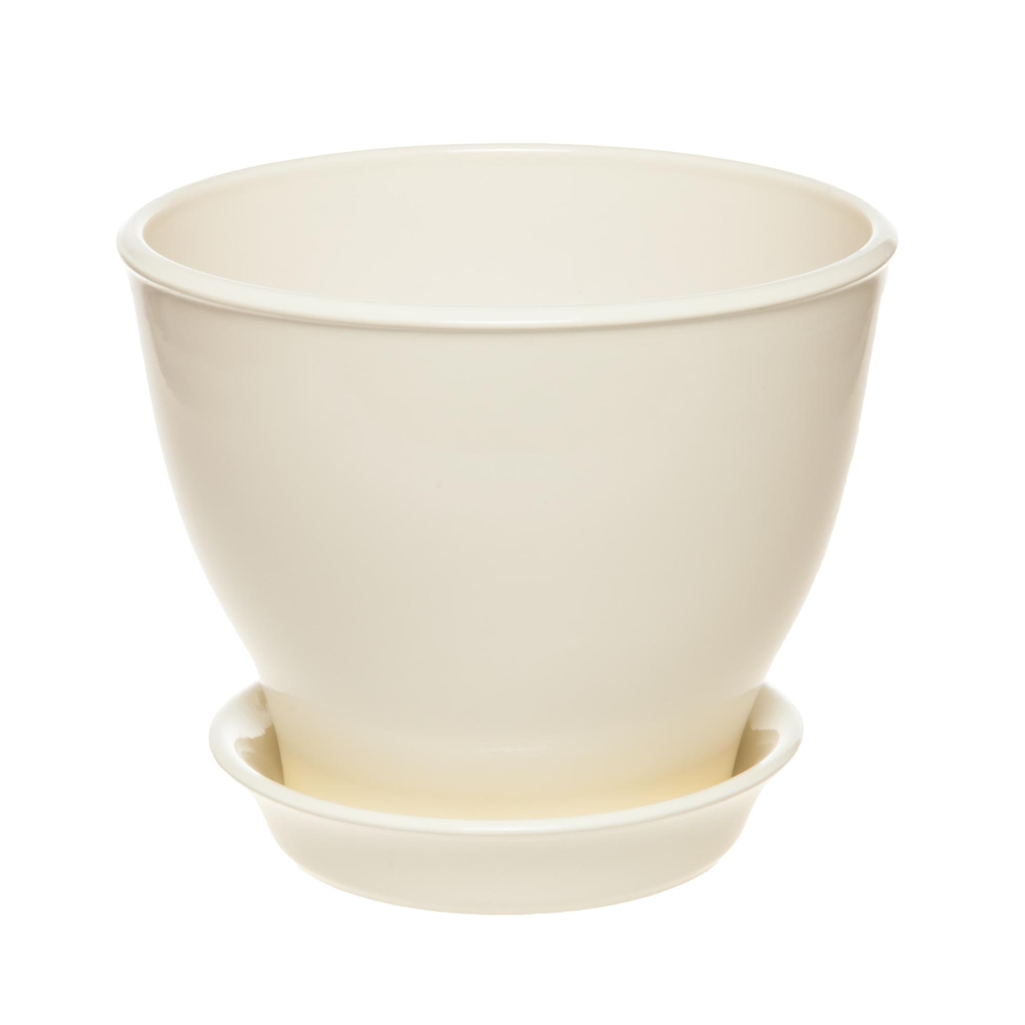 Фото - Горшок Керам Ксения глянец молочный 12 см горшок с поддоном керамический для цветов керам ксения глянец зеленый 9см