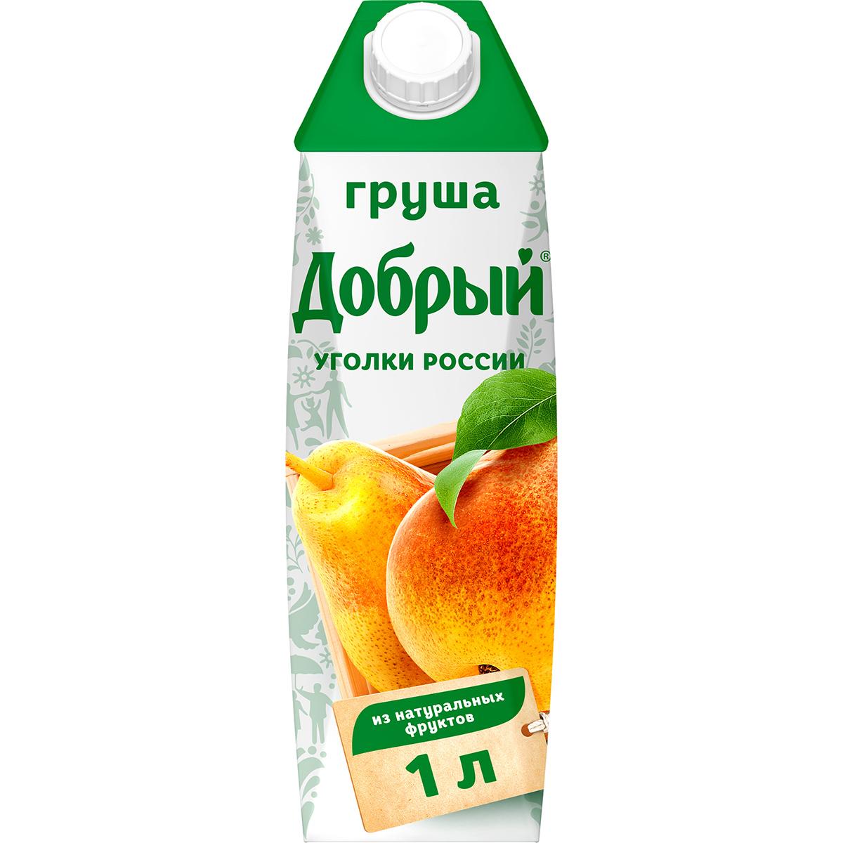 Нектар Добрый Уголки России Груша 1 л недорого