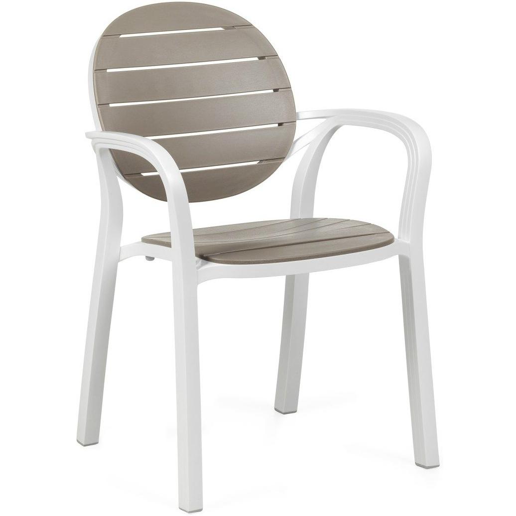 Купить Стул Nardi Palma White/Tortora, стул, Италия, белый, тортора (серо-коричневый), пластик