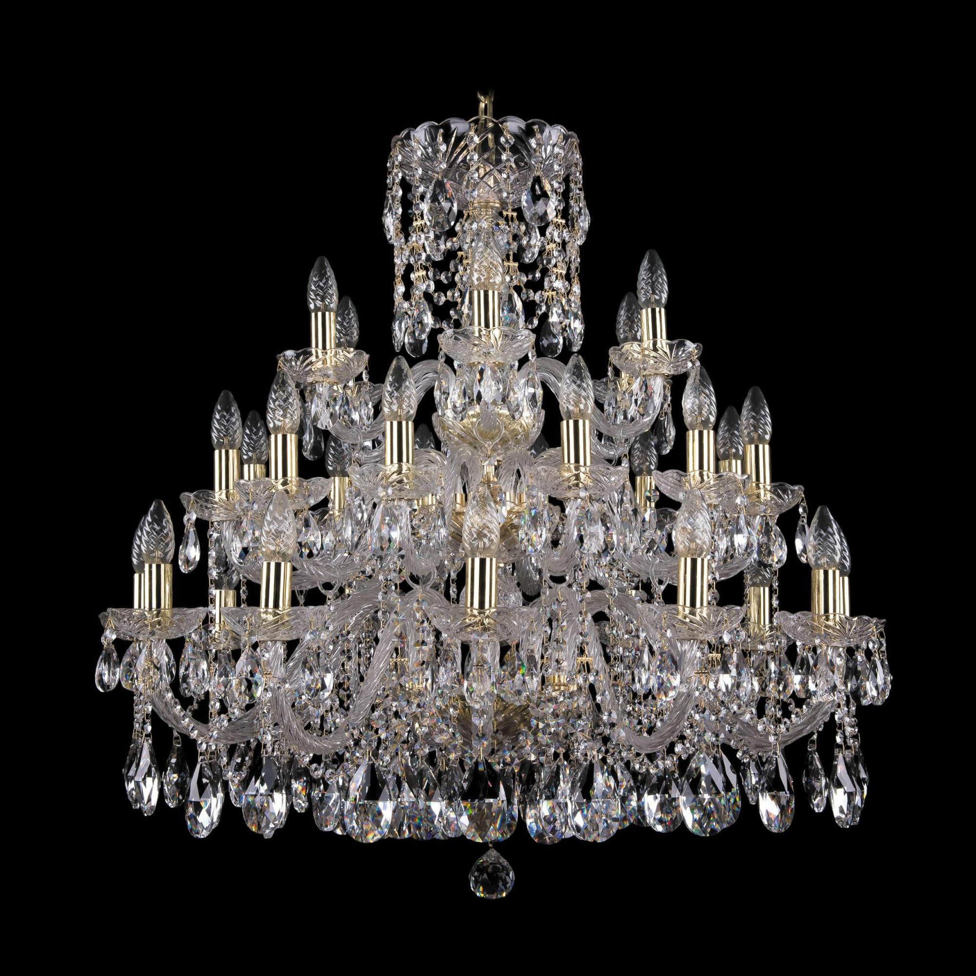Люстра Bohemia Ivele Crystal 1412/12+12+6/300/3D G люстра bohemia ivele crystal 1703 1703 12 320 c gb e14 480 вт