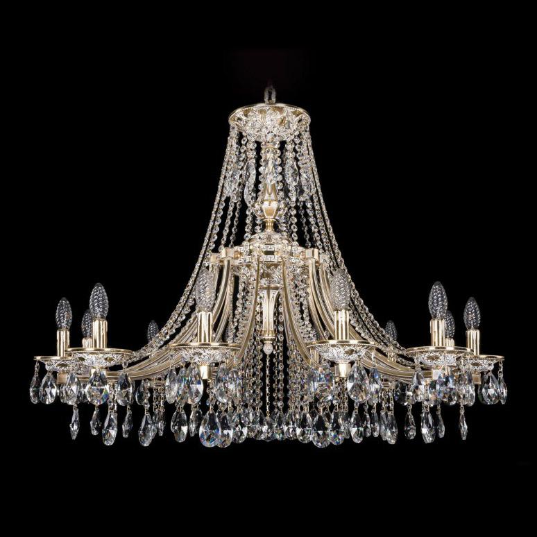Люстра Bohemia Ivele Crystal 1771/12/340A GW люстра bohemia ivele crystal 1703 1703 12 320 c gb e14 480 вт