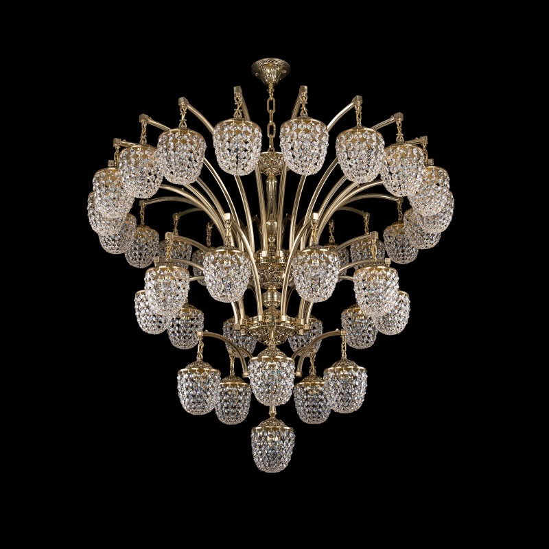 Люстра каскадная Bohemia Ivele Crystal 1772/20+10+5+1/490 GB люстра bohemia ivele crystal 1703 1703 12 320 c gb e14 480 вт