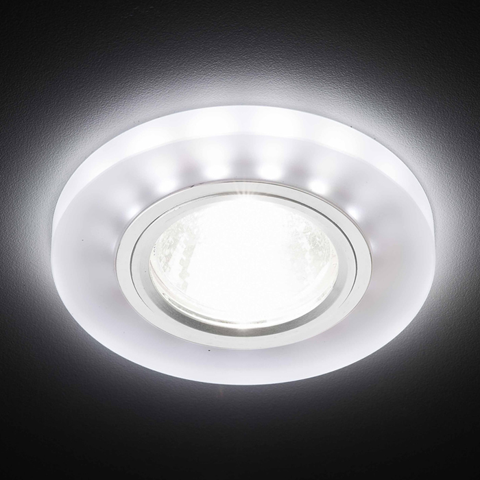 светильник ambrella light s214 wh ch wh led Светильник /mr16+3w/led/ Ambrella light S214 WH/CH/WH