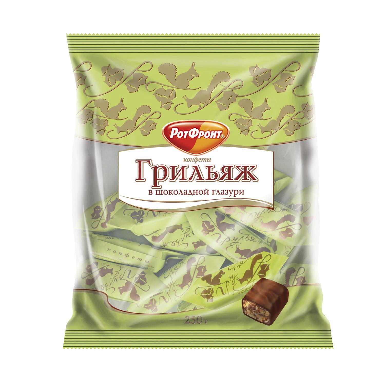 кедровый грильяж сибирские афины с вишней 125 г Драже Рот Фронт Грильяж в шоколаде 200 г