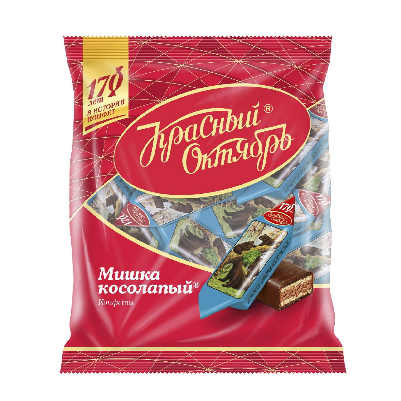 Конфеты Красный Октябрь Мишка косолапый 200 г конфеты красный октябрь ну ка отними 200 г
