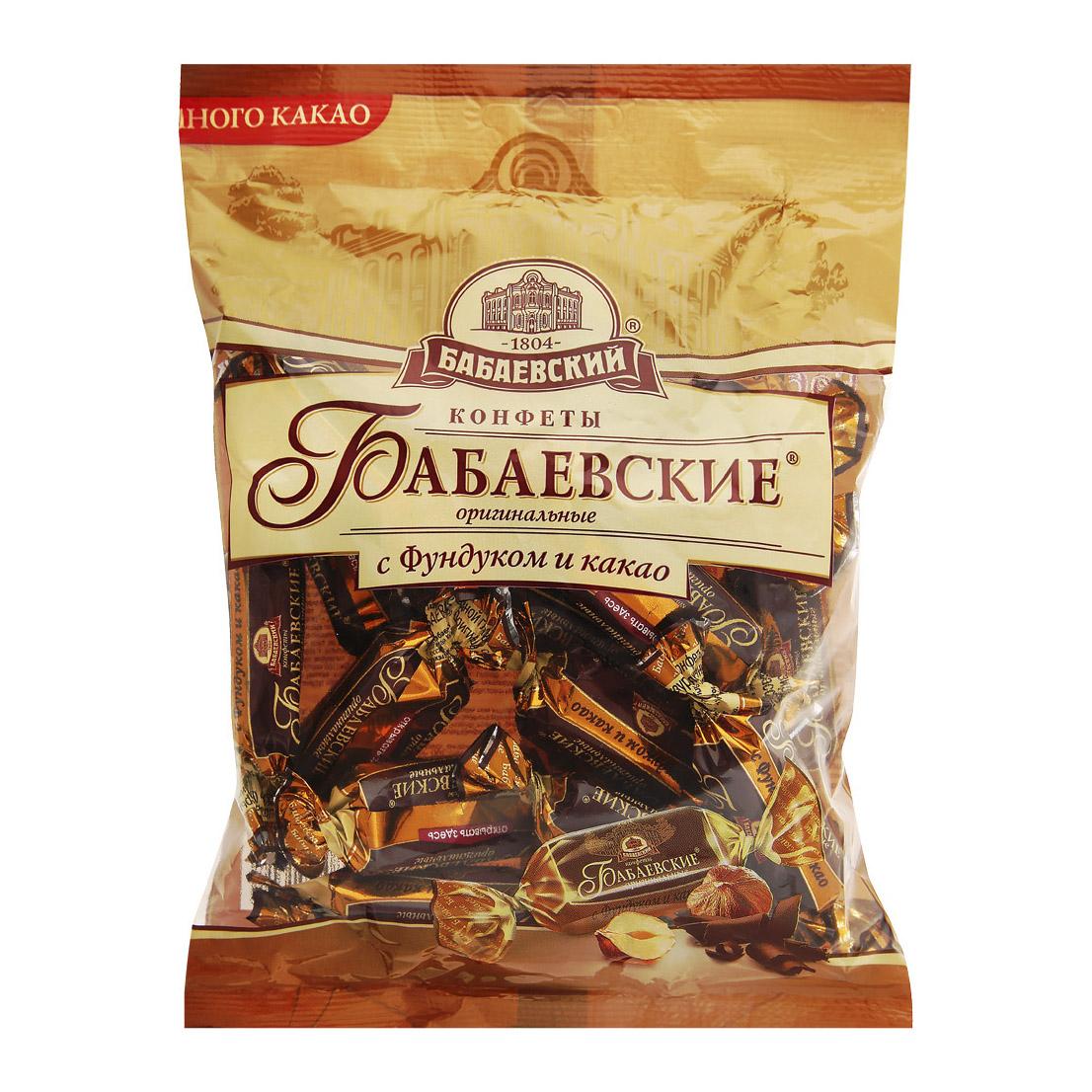 Конфеты Бабаевские Оригинальные с фундуком и какао 200 г
