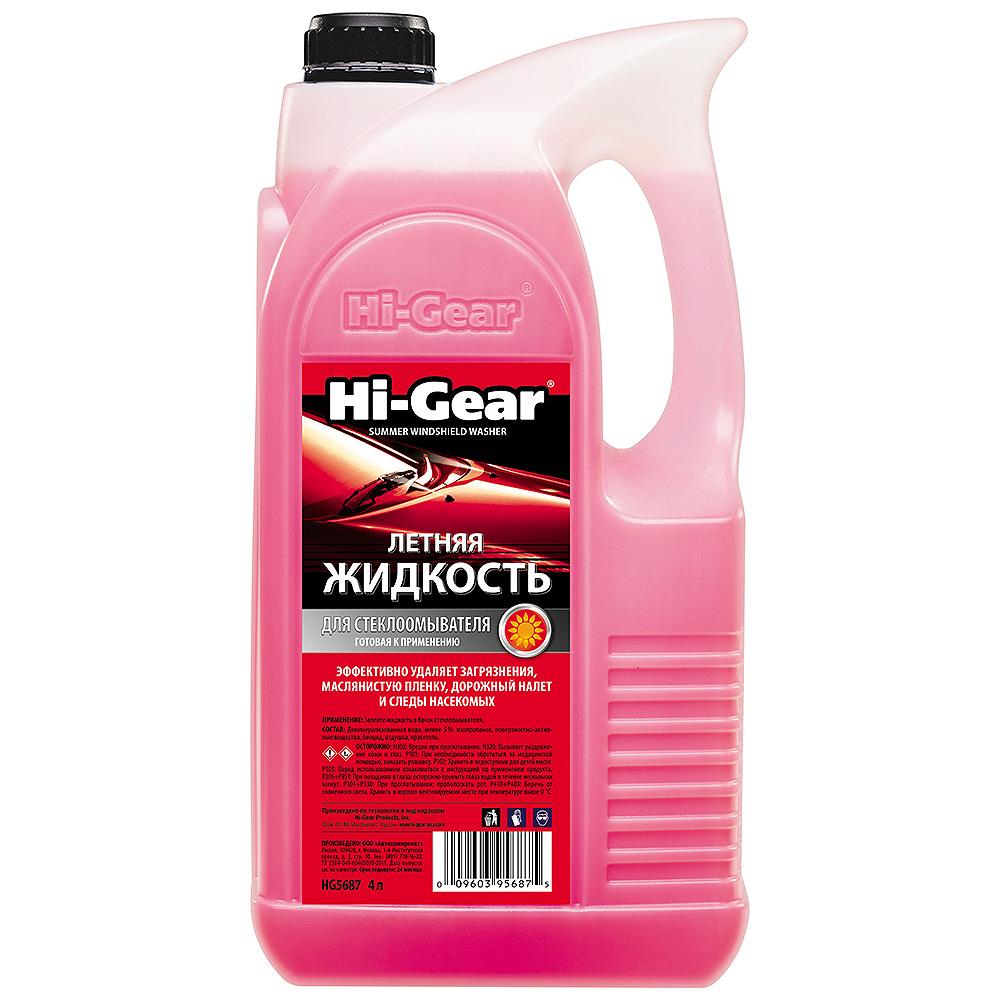 Жидкость для стеклоомывателя летняя 4л Hi-gear