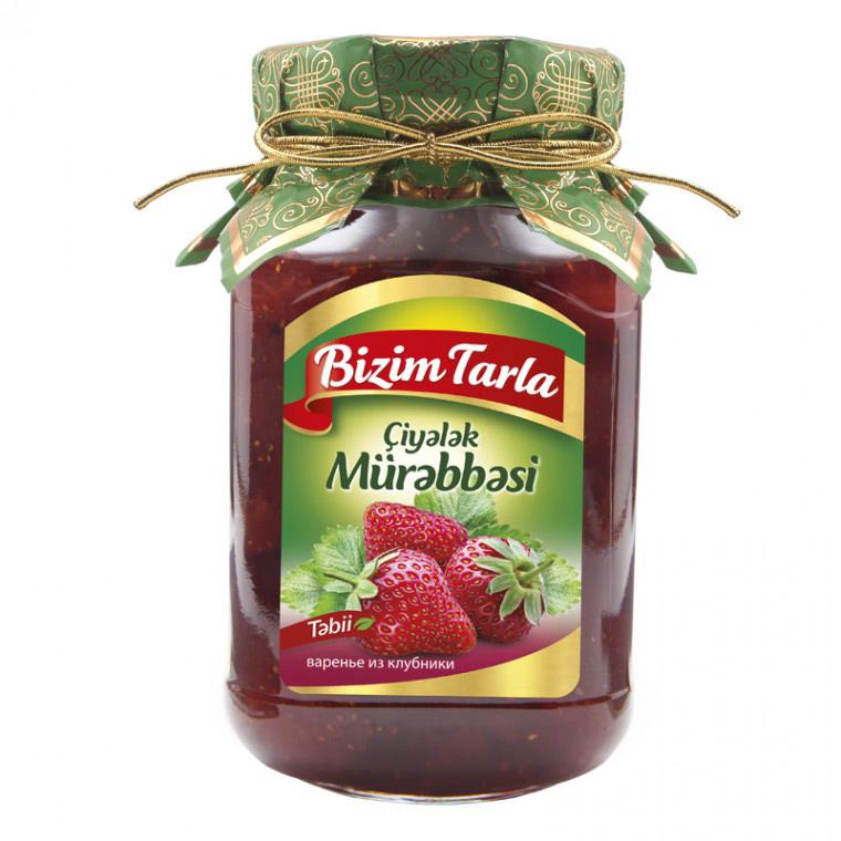 Варенье Bizim Tarla из клубники 400 г соленья из красных томатов bizim tarla 2 кг