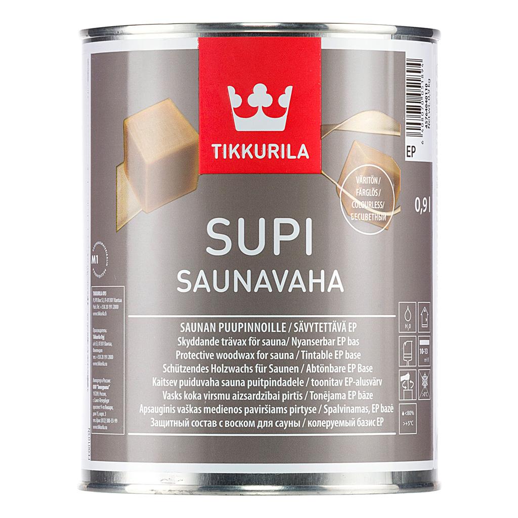 Защитный воск для саун Tikkutila супи саунаваха 0.9 л