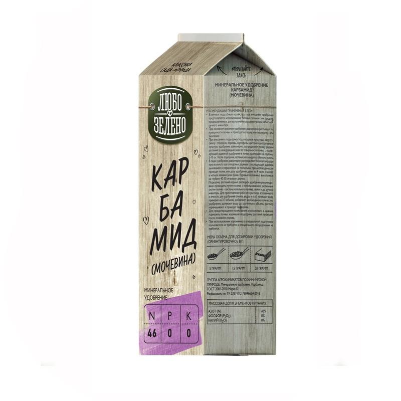 Купить Удобрение Карбамид Pure Pak 0, 75 кг Любо-Зелено, гранулированное удобрение, Россия