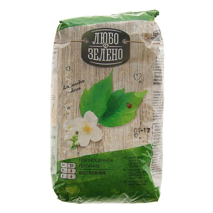 Купить Удобрение Весна брик 1 кг Любо-Зелено, гранулированное удобрение, Россия