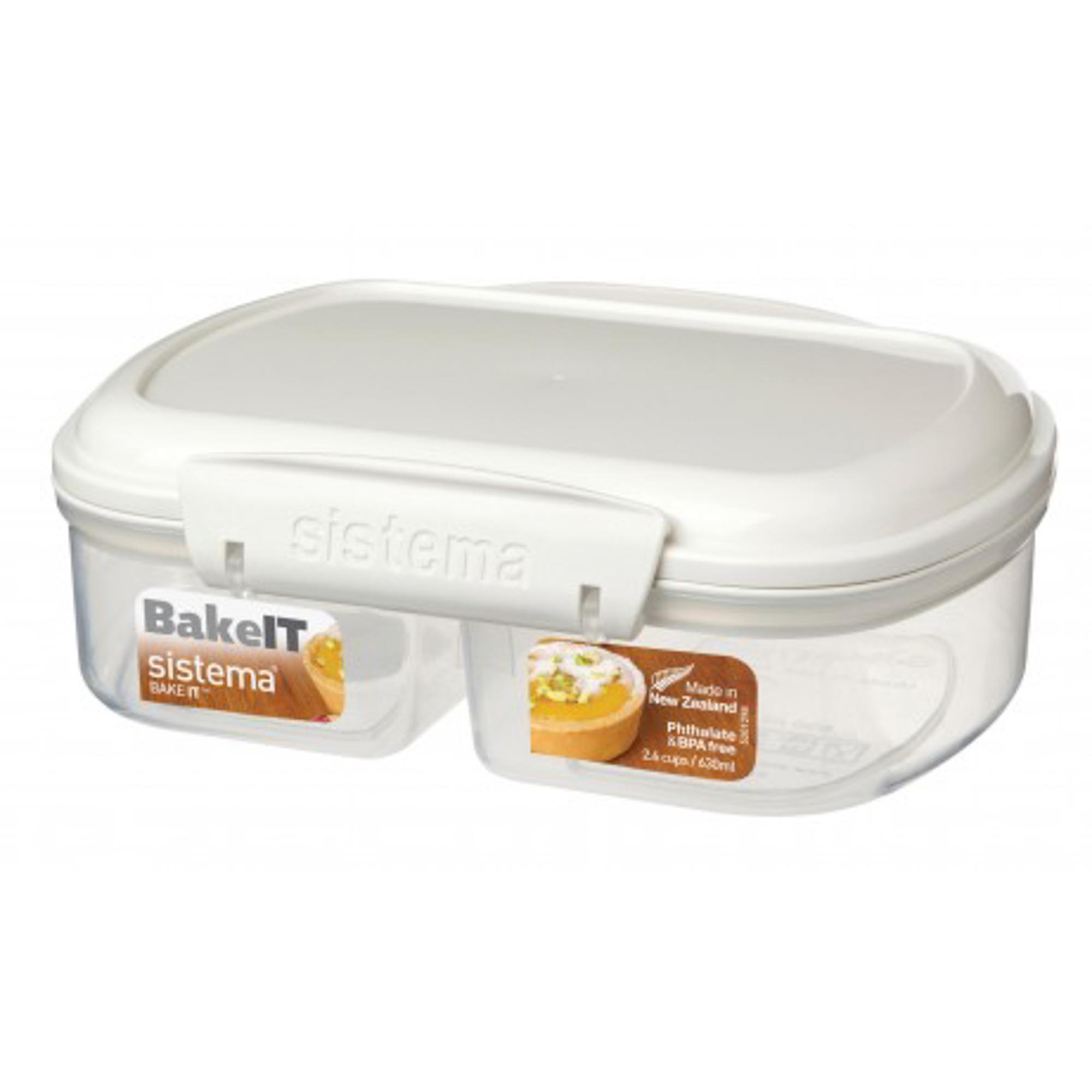 Фото - Контейнер двойной 630мл bake-it Sistema контейнер 685мл sistema bake it