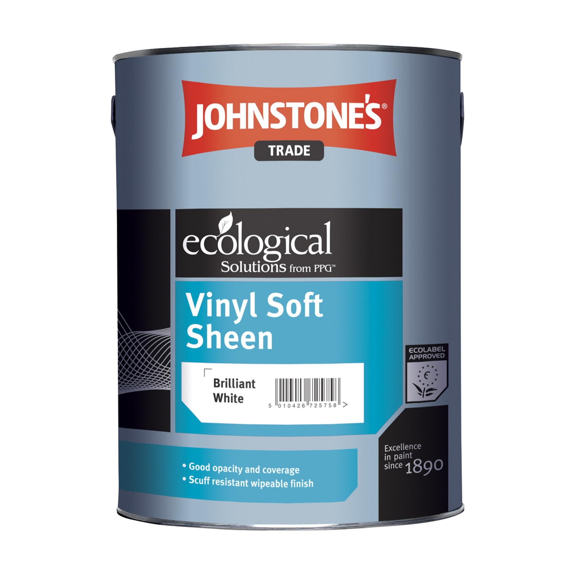 Краска JohnStones Vinyl Soft Sheen Transparent для стен и потолков 5 л фото