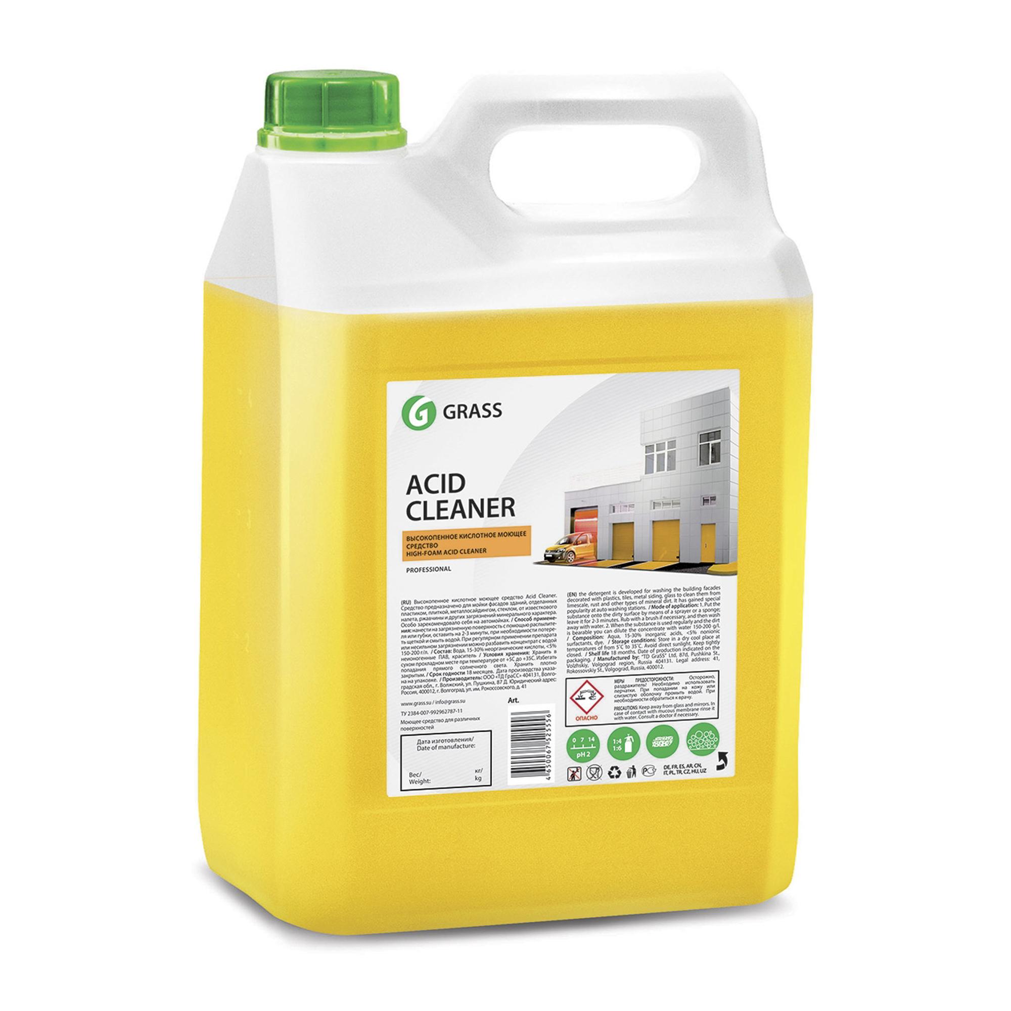 Средство Grass Acid Cleaner для очистки фасадов 5.9 л