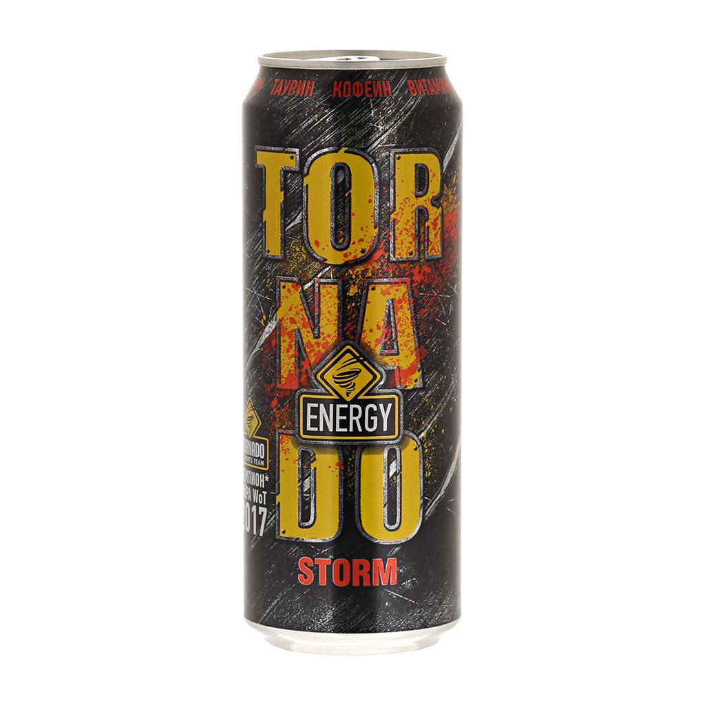 Напиток энергетический Tornado Energy Storm 450 мл напиток энергетический monster green 500 мл