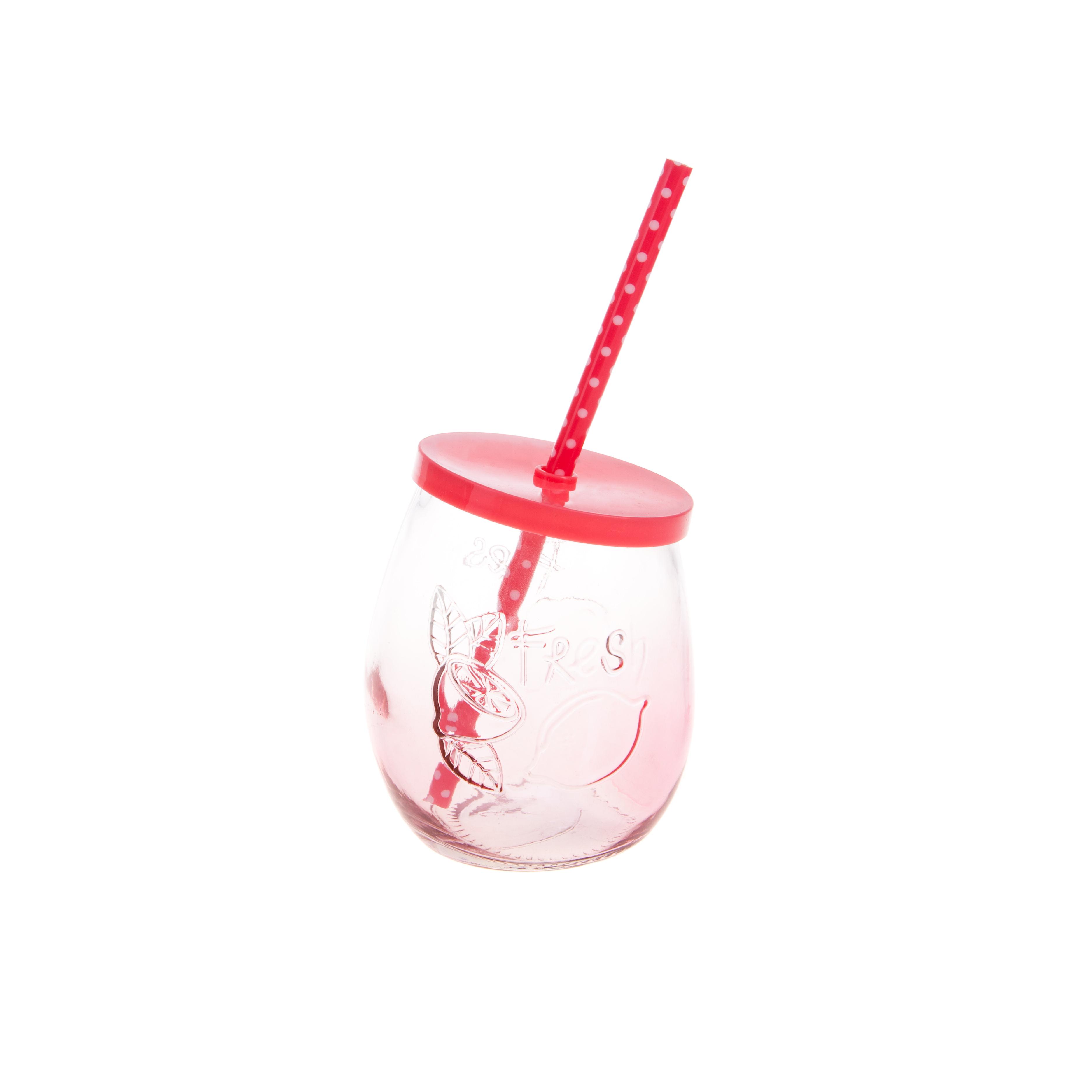 Купить Набор стаканов Hoff Interieur 4 шт, Германия, розовый, стекло, пластик