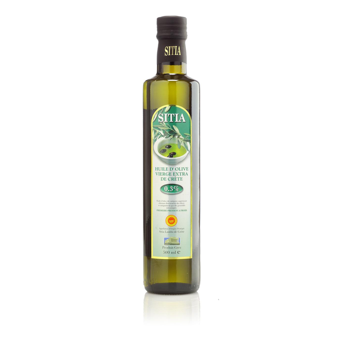 Масло оливковое SITIA P.D.O. Extra Virgin 0,3% 500 мл масло оливковое farchioni extra virgin di oliva 500 мл