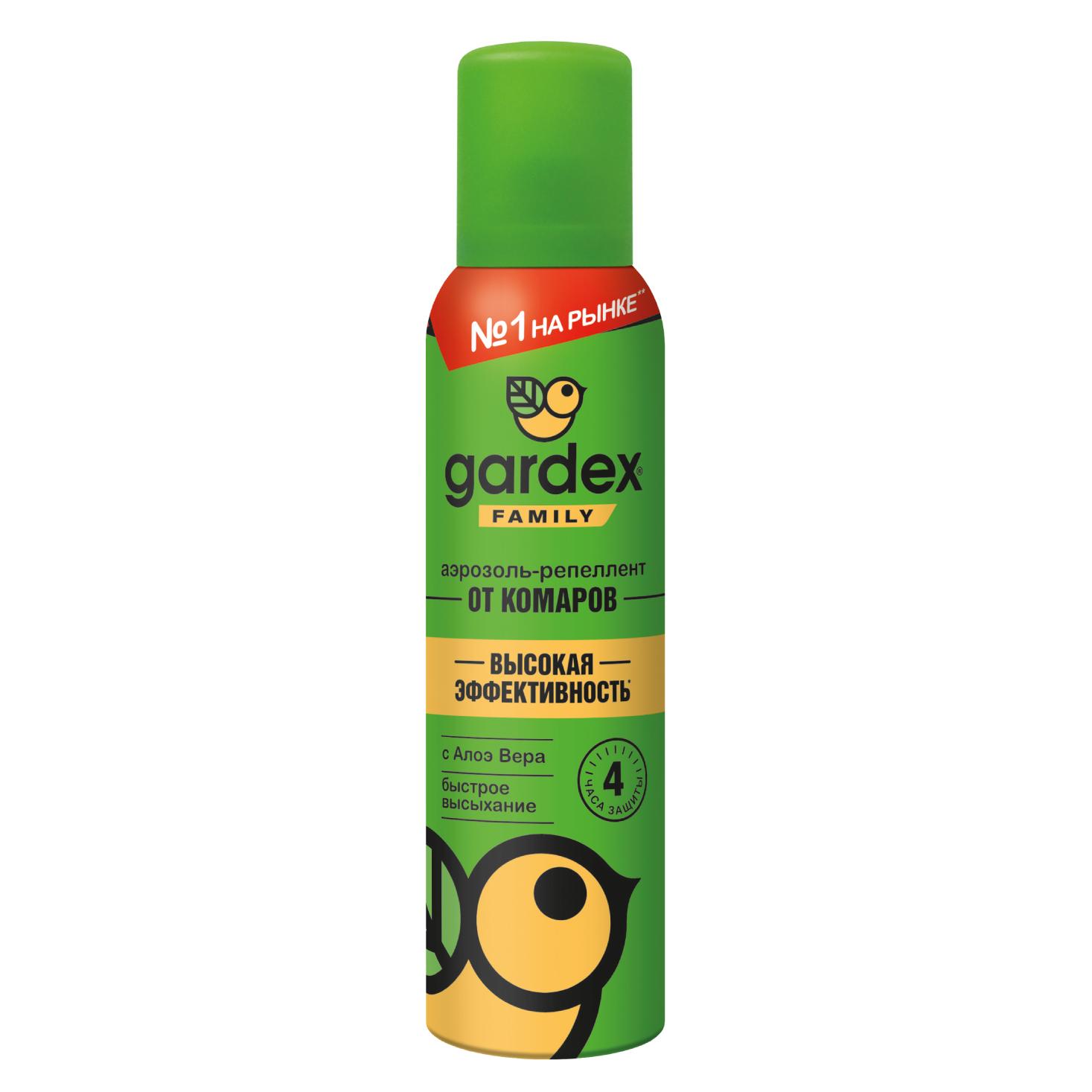 Купить Спрей Gardex Family от комаров с алоэ вера для нанесения на кожу 250 мл, UPECO/Gardex, спрей, Россия