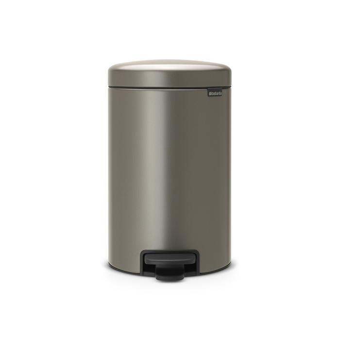 Купить Бак мусорный с педалью 12л платиновый Brabantia newicon, Бельгия, Нержавеющая сталь