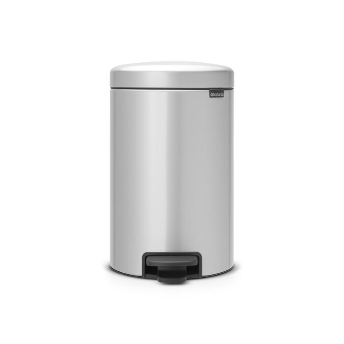 Купить Бак мусорный с педалью 12л серый Brabantia newicon, Бельгия, Нержавеющая сталь