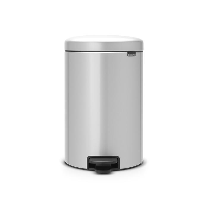 Купить Бак мусорный с педалью 20л серый Brabantia newicon, Бельгия, Нержавеющая сталь