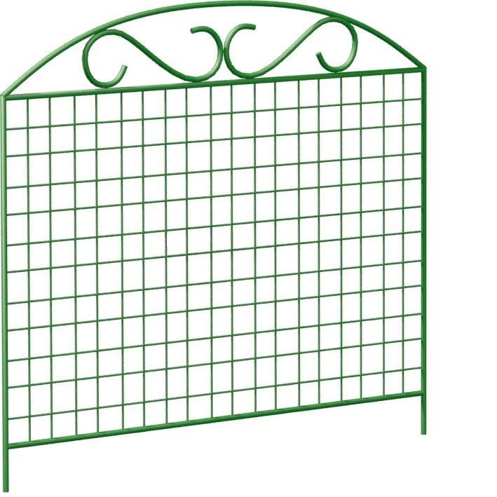 ограждение садовое декоративное арка цвет зелёный Ограждение садовое Лиана сетка 100х90 см
