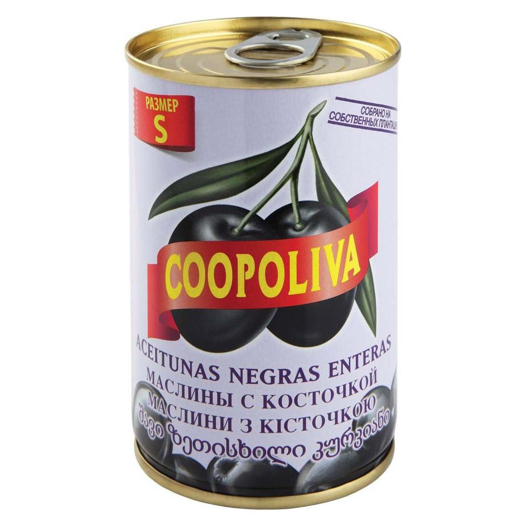 Маслины Coopoliva S с косточкой 300 г itlv маслины super с косточкой