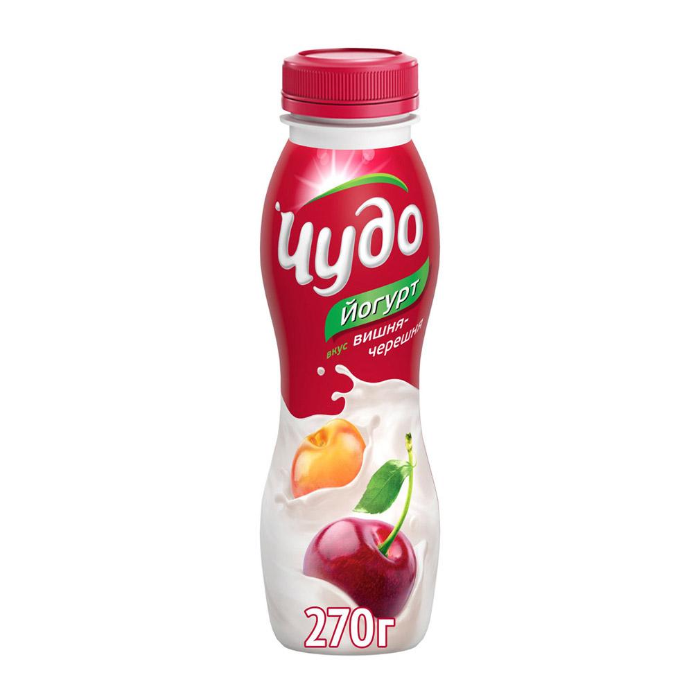Йогурт Чудо Вишня, черешня 2,4% 270 г недорого