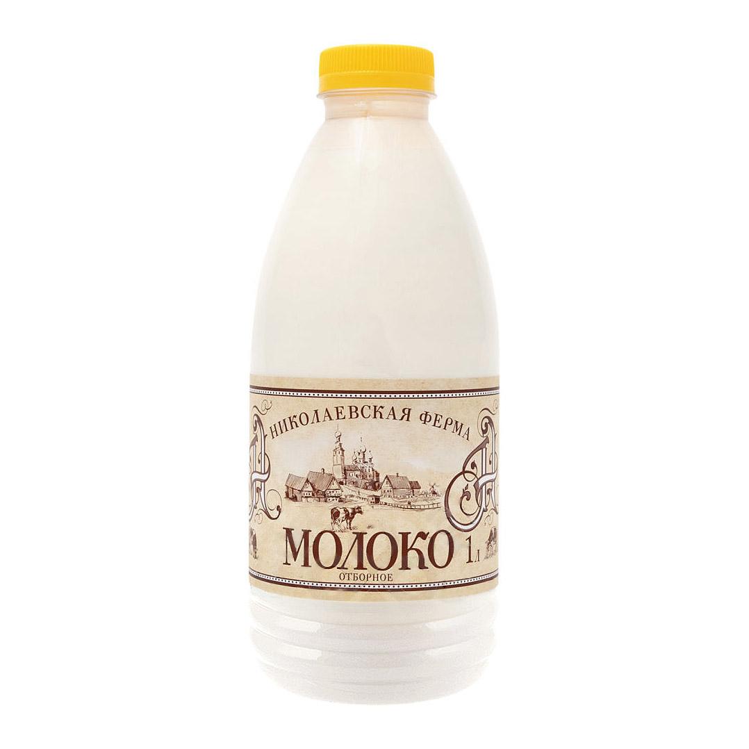 Молоко Николаевская ферма Отборное пастеризованное 5% 1 л фото