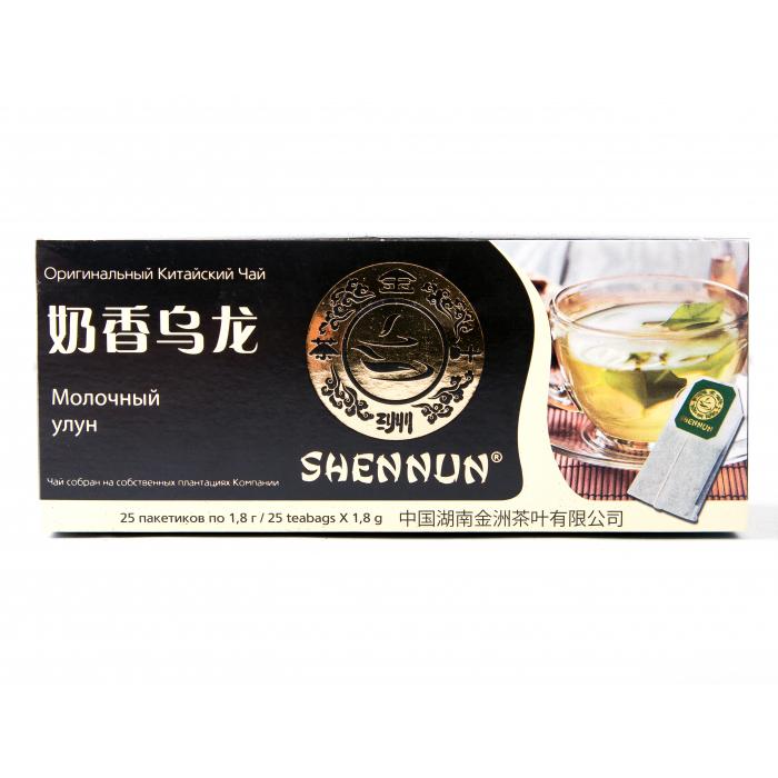 Чай зеленый Shennun Молочный улун 25 пакетиков