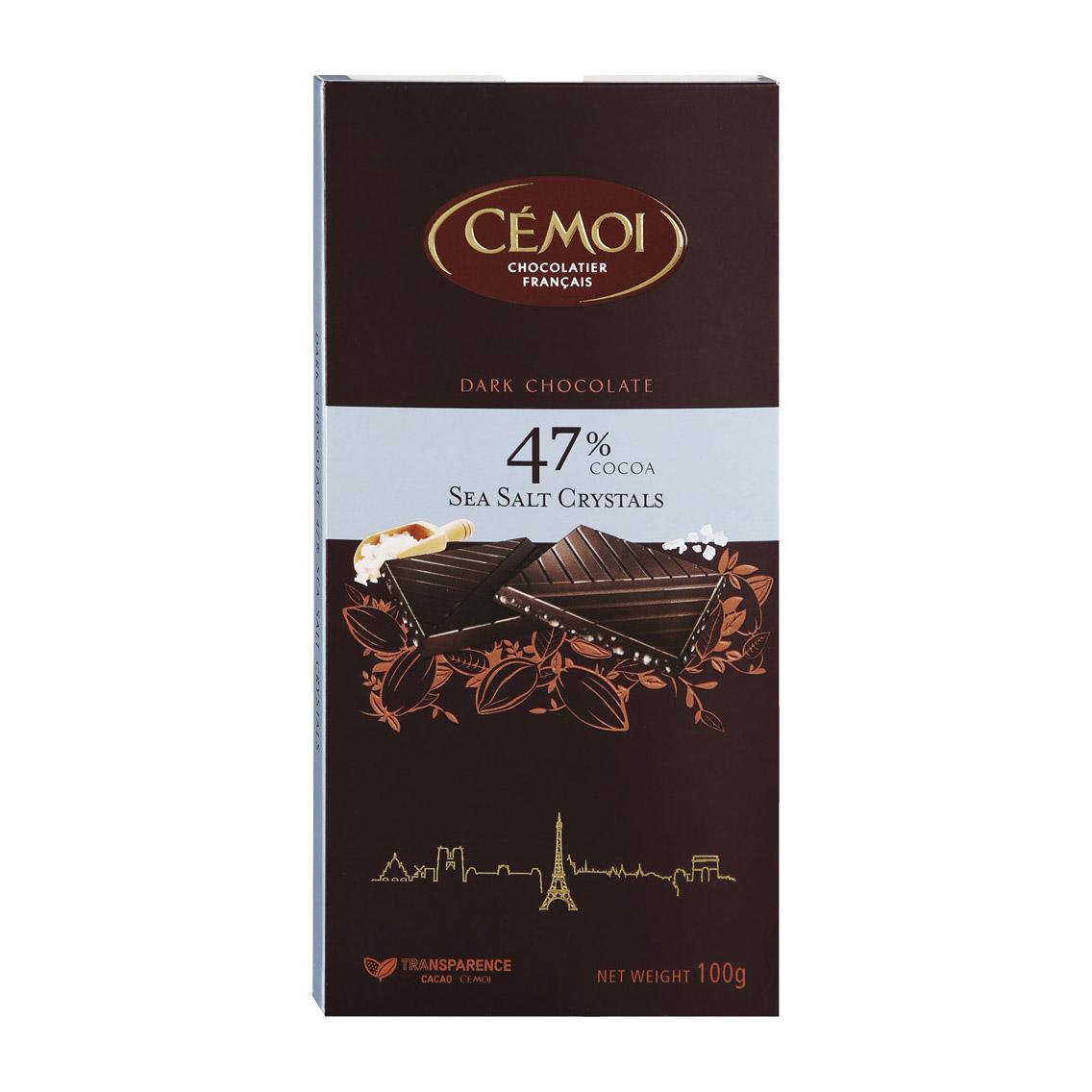 шоколад cemoi темный с карамелизированными кусочками миндаля 100 г Шоколад Cemoi горький с кристаллами морской соли 100 г