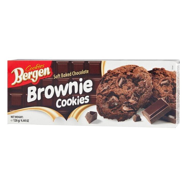 Печенье Bergen Брауни с кусочками шоколада 126 г