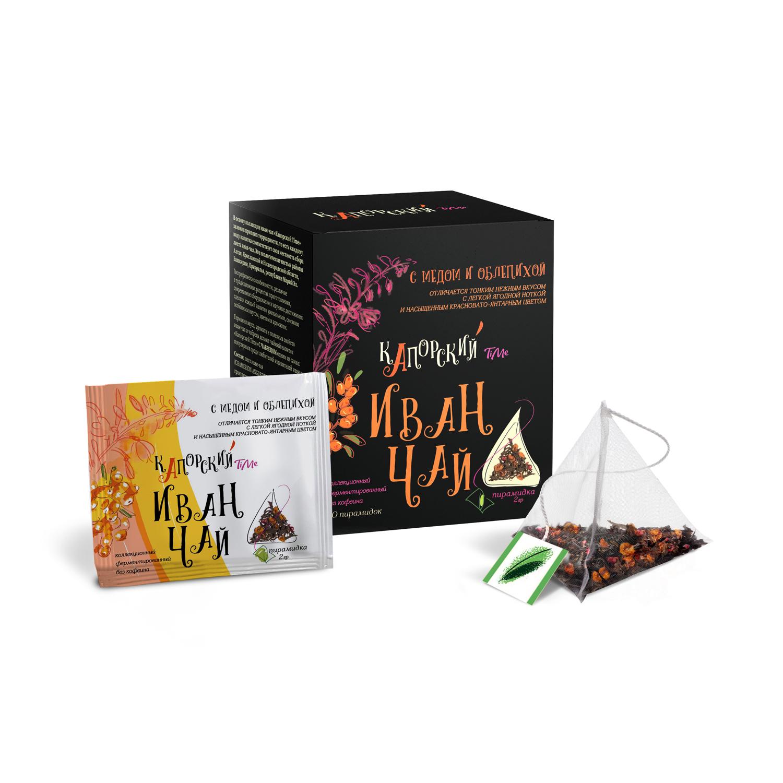 Чайный напиток Иван-чай Капорский С Медом и Облепихой 20 пакетиков чайный напиток травяной емельяновская биофабрика иван чай с клюквой 50 г