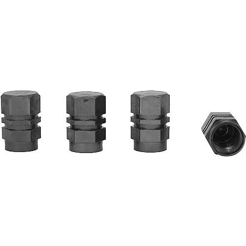 Колпачки на ниппель Autostandart алюминиевые шестигранные, к-т 4 шт.(