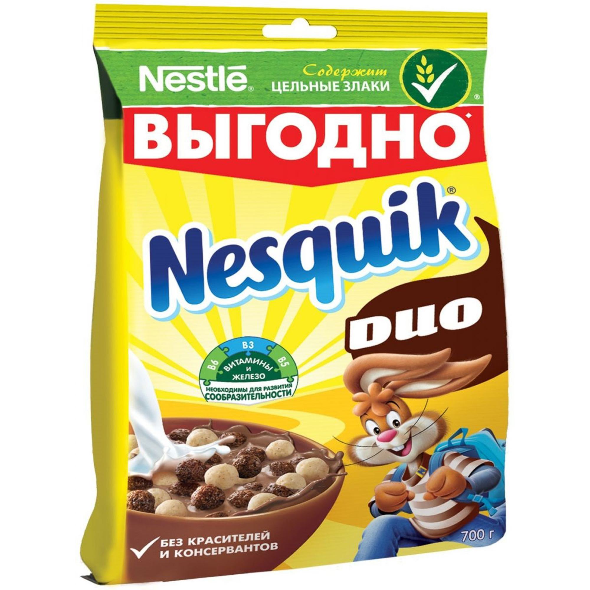 Готовый завтрак Nesquik Duo шоколадный 700 г.
