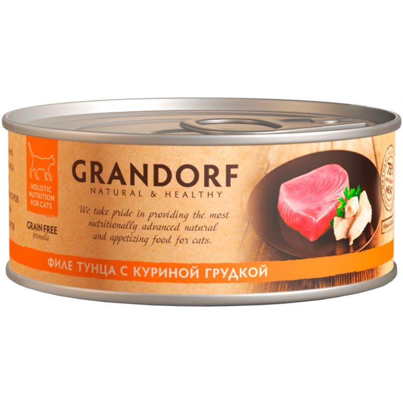 Корм для кошек Grandorf Tuna with Chicken in Borth Филе тунца с куриной грудкой 70 г