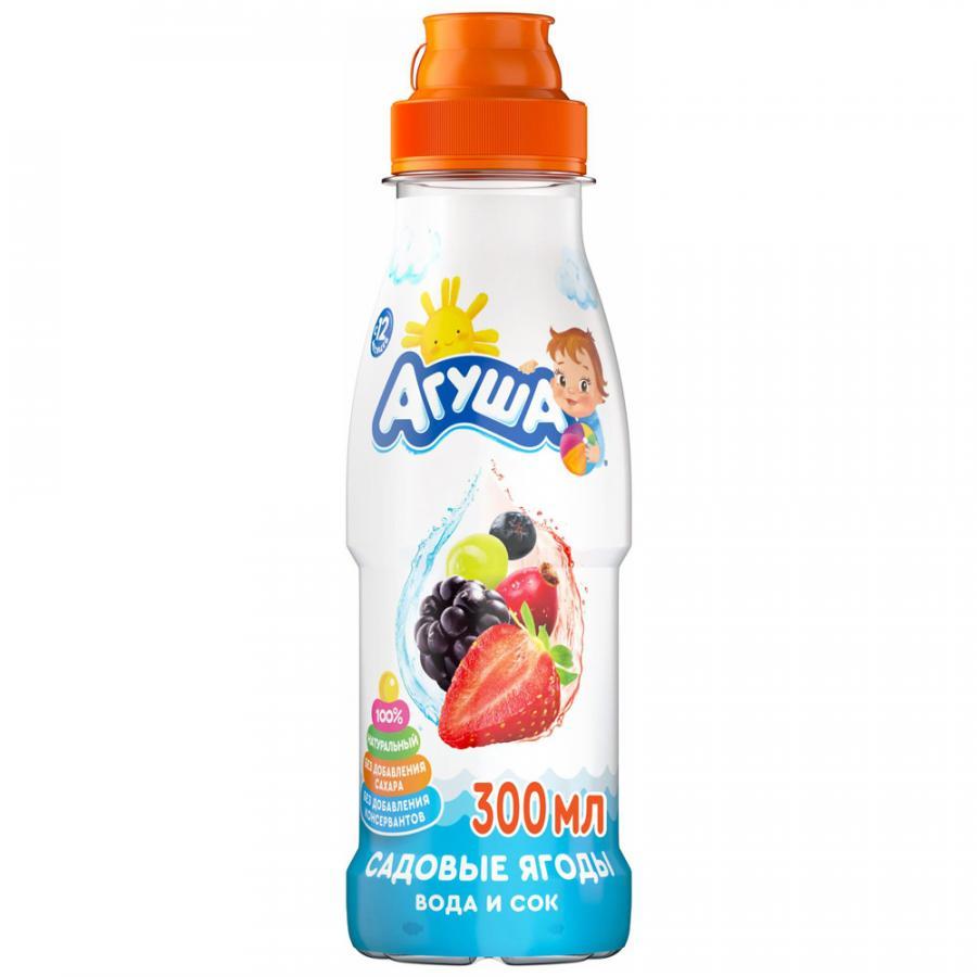 Напиток сокосодержащий Агуша с садовыми ягодами без сахара 12 месяцев, 0,3 л