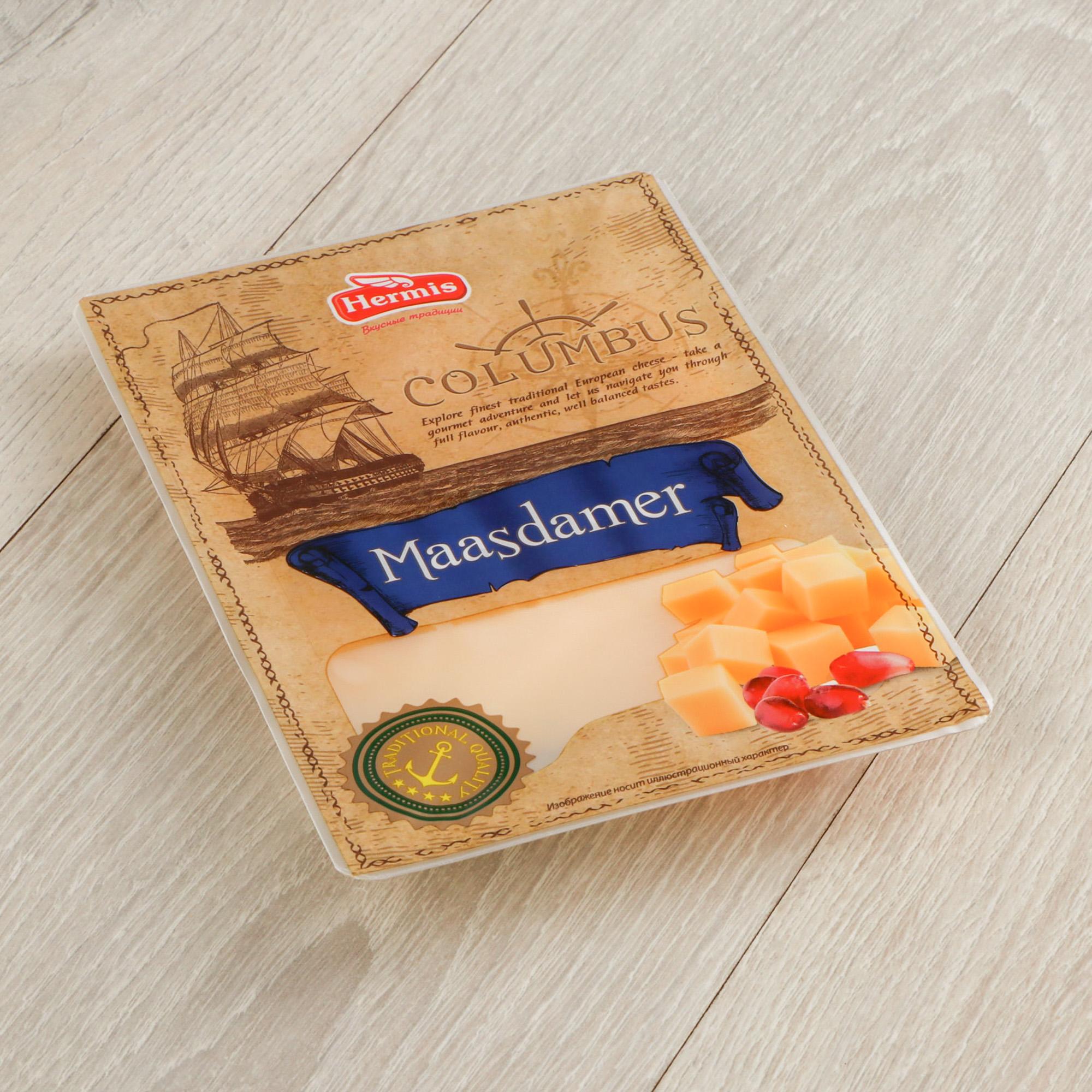 Сыр Columbus Маасдамер 45% 125 г