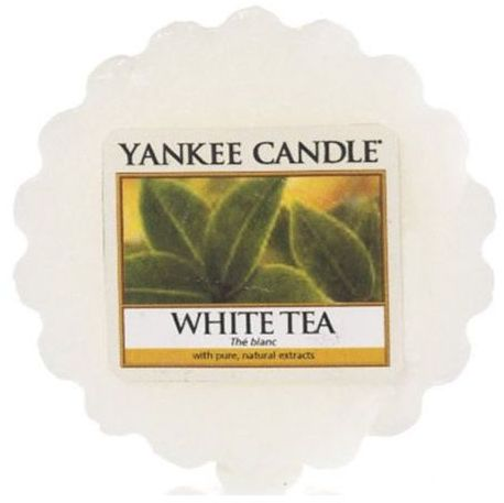 Ароматическая свеча-тарталетка Yankee candle Белый чай 22 г фото