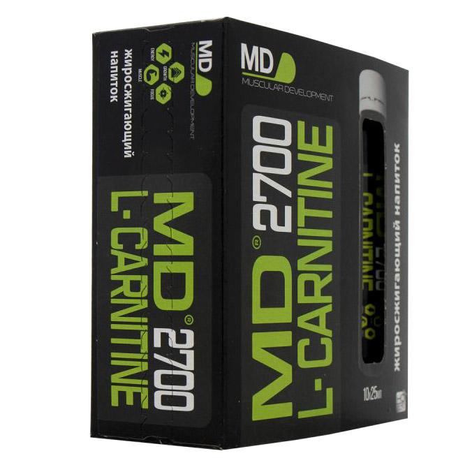 Жиросжигатель MD Liquid L-Carnitine 2700 10х25 мл недорого
