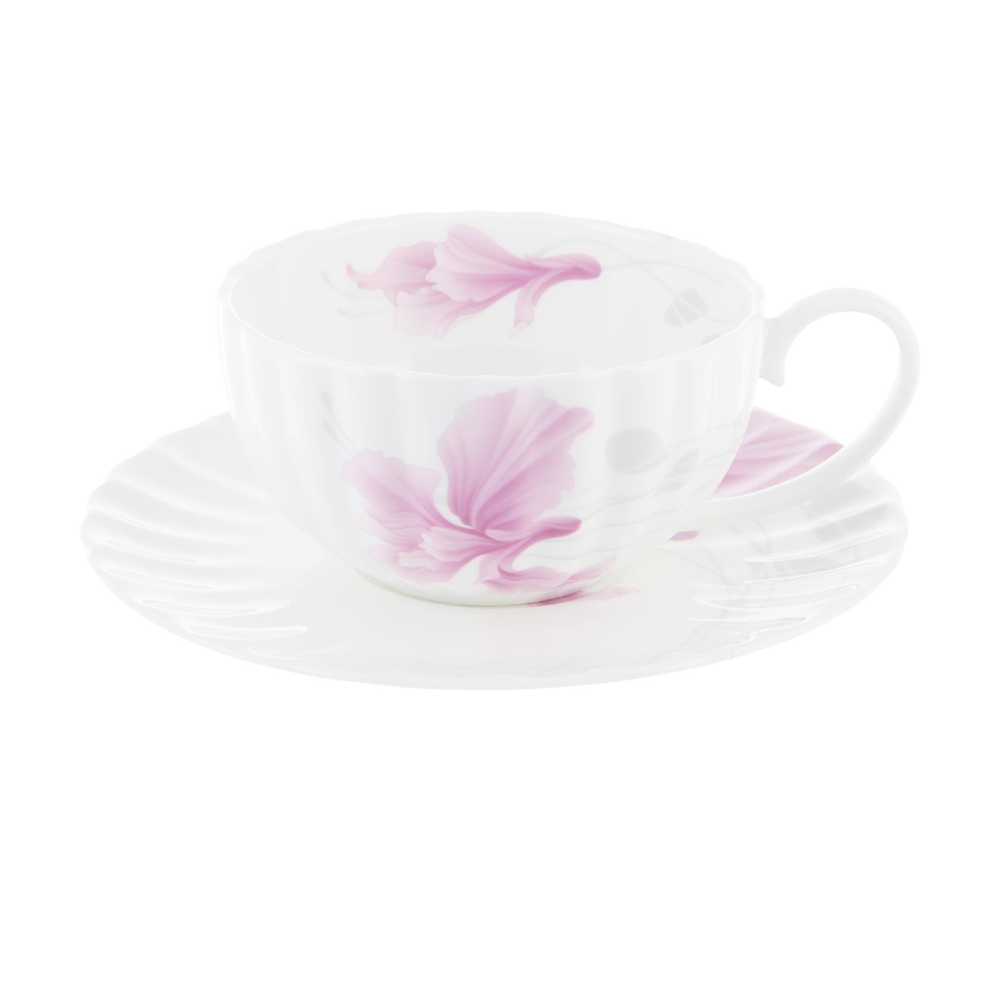 Чашка чайная 370 мл с блюдцем 1/2 флёр Hatori