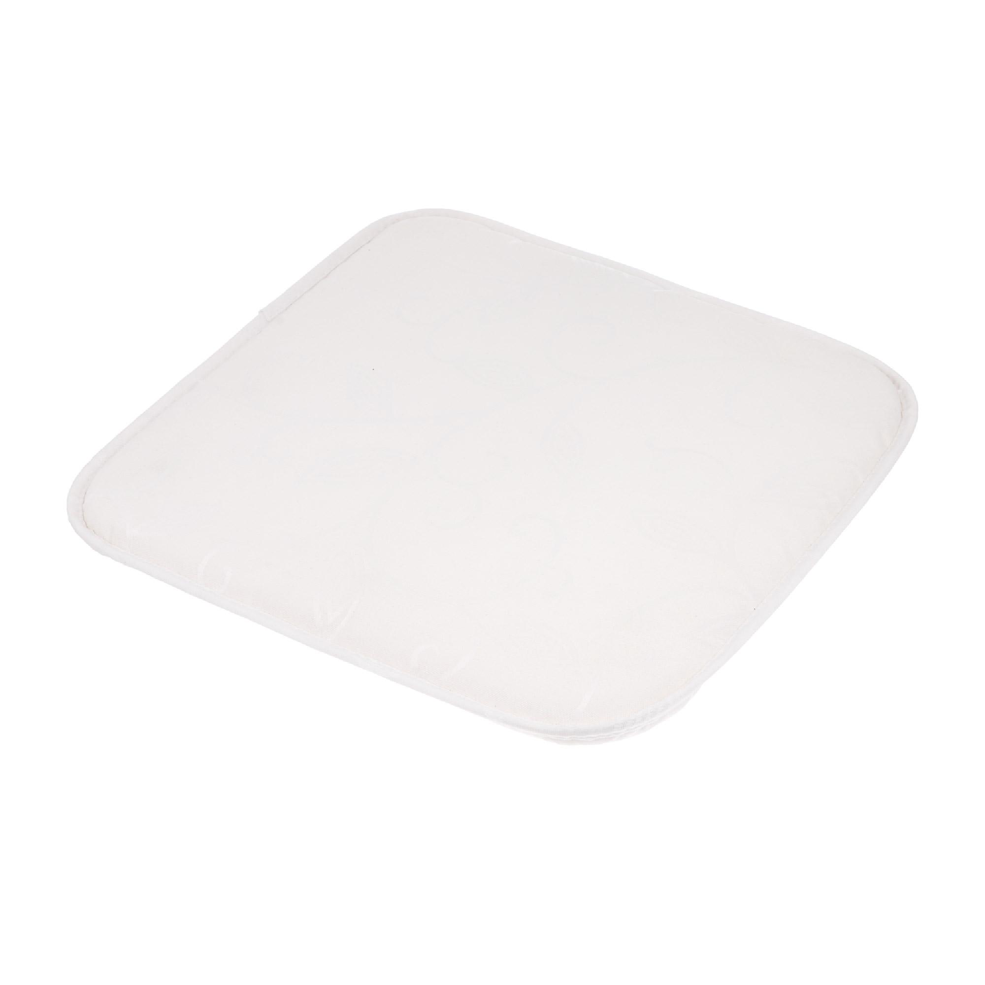Купить Подушка для стула Gemitex ramage белая 39x39x3.5 (510846), Италия, белый, 100% полиэстер с акриловой пропиткой, внутри 100% полиуретан